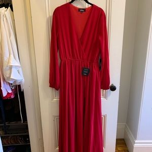Red long sleeve Lulu's dress